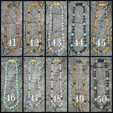 Baltic Amber Necklace, Bracelet or Anklet, Raw Unpolished, Safety or Screw 41-50