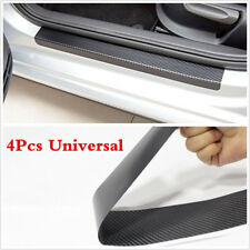 3D Carbon Fiber 4pcs Inner Door Sill Scuff Plate Car Decal Sticker Anti-Scratch