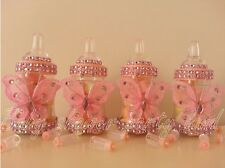 12 Pink Butterfly Bottles Baby Shower Favors Prizes Girl Decorations Recuerdos