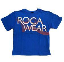 ROCAWEAR BOYS SHIRT - LOGO FRONT SZ 7 BLUE COBALT - TOP TEE SHIRT PRINTED KIDS