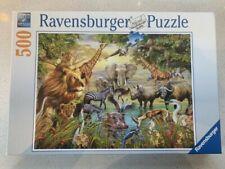 "500 piece Ravensburger Jigsaw Puzzle ""Majestic Watering Hole"" Jungle animals"