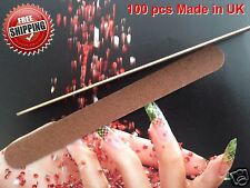 100 X Nail File Garnet Board   Pack of 100 pcs Made in  UK