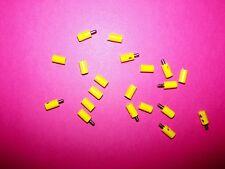 (090Yl) Yellow, Old Style Lot Lgb/ Marklin Ho 10 Male 10 Female Plugs, Sockets