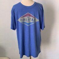 """1749 Halifax Nova Scotia"" Blue Static T-Shirt"
