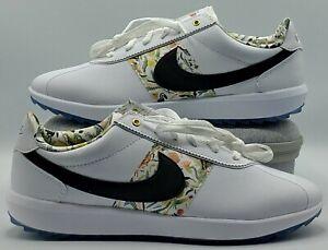 Nike NRG Rare Cortez Golf Shoes Women's Size 9.5 White Black Floral CI2283-100