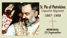 St Padre Pio Prayer Card (wallet size)