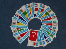 VEREINTE NATIONEN/UNO NEW YORK - 16 Maximumkarten , Flaggenserie 1980 komplett