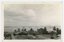 Pre WW2 Postcard RPPC Photograph 1936 Cuba Guantanamo Bay Panoramic Sharp Photo