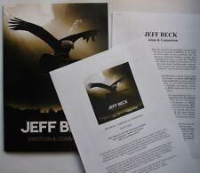Jeff Beck Emotion & Commotion Rare Ger A4 PressFolder + 6page Inserts