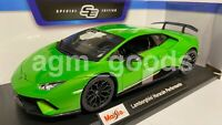 Maisto 1:18 Scale - Lamborghini Huracan Performante - Green - Diecast Model Car