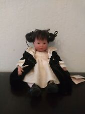 """Lee Middleton Maia 10"""" Doll Classic Miniatures by Reva Schick Tag and Stand"""