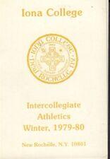 1979-80 Iona College Winter Athletics Schedule 101717jh
