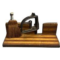 Antique Union Hardware Co. Perfection Miter Box No 556 with Original Straw Brush