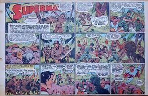 Superman by Siegel & Shuster - WW2 - large half-page Sunday comic, Nov. 21, 1943