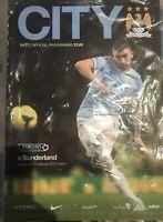 MANCHESTER CITY V SUNDERLAND FOOTBALL PROGRAMME 2013/14  MINT IN WRAPPER