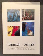 Original-Ausstellungsplakat Damisch Scheibl, Linz, 1986