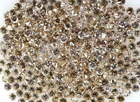 100% Real Natural Loose Round Brown Si Diamond 0.80 to 1.10 MM 50 pcs Lot Q48
