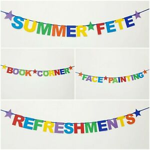 School Summer Fete Fair banners Face painting Classroom Sports day Bunting +MORE