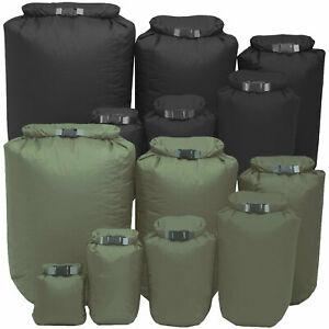 Exped Waterproof Fold Dry Bags Roll-Top Closure Dustproof 1-40L Black/Olive Drab