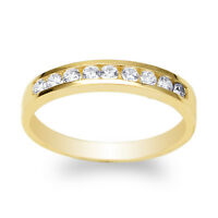 Womens 14K Yellow Gold Beautiful Heart Shaped Ring with Round CZ Size 4-10