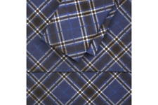 NorthCrest Blue Plaid Flannel Twin Sheet Set