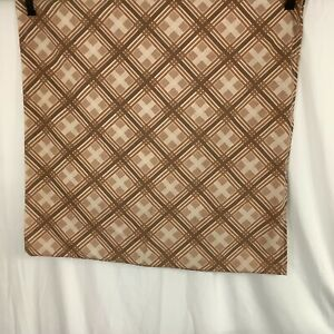 """Dog Bed Cover only Brown Checked 32 x 32"""""""