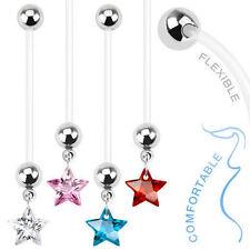 Cubic Zirconia Bioplast/Bioflex Body Piercing Jewellery