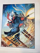 The Shadow - Ablaze Michael Kaluta First Team Press Lithograph Limited 1246/2500