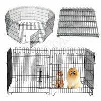 8 Panel Pet Dog Pen Puppy Foldable Playpen Indoor Outdoor Enclosure Run Cage New
