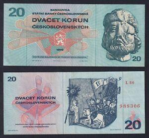 Cecoslovacchia 20 korun 1970 SPL/XF  B-06