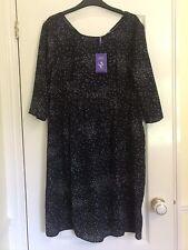 BNWT Seraphine Maternity Dress Size 16 Navy Dot Spotted Minnie Wedding Party