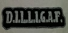 Dilligaf motorcycle biker embroidered vest patch iron on