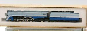 "ConCor N Scale Santa Fe ""Blue Goose"" Passenger Train with DCC"