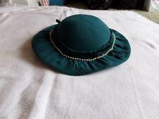 VintageTeal and faux pearl  vintage womens hat