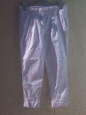 Beau pantalon jean carotte coton blanc camaieu 38 M  mesures