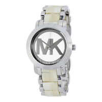 MICHAEL KORS Damen Armbanduhr Uhr Damenuhr Silber Beige MK4304 Ladies Watch