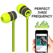 Stereo Bass Headphone Earphone Sport Headset Hands Free Earbuds With Mic Green