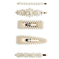 Barrette per Capelli 5 Pack Perle per Capelli per Ragazze Perle da Sposa Pe K9A9