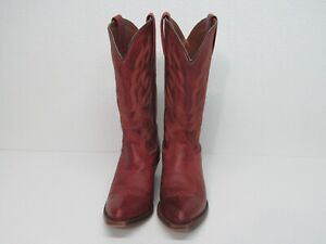 Dan Post 3691 Red Leather Snip Toe Cowgirl Western Boots Size Womens 8M