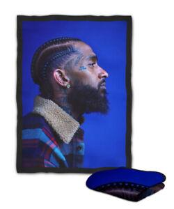 Nipsey Hussle Rapper Hip Hop Blanket ( KIDS / MEDIUM / LARGE )