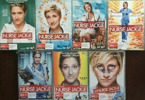 NURSE JACKIE season 1 - 7 COMPLETE SERIES DVD very good to close to new