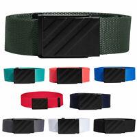 adidas Mens 2019 Webbing Fabric OSFA Metal Buckle Clamp Adjustable Golf Belt