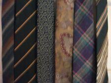 Six Men's Ties - Brown/Green Spectrum