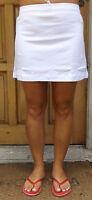 WOMEN`S NEW ADIDAS FLARE TENNIS SKIRT WHITE UK 8-10,14-16,16-18,18-20