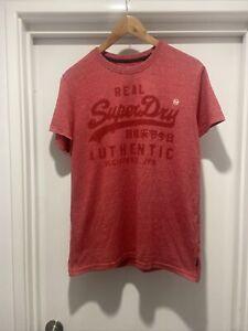 Superdry Red Large Logo T Shirt L