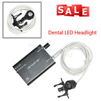 Black Dental LED Head Light Lamp with Clip for dental Dentist Loupes Supply New