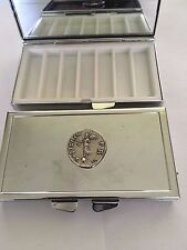 Denarius Of Galba Coin WC73  English Pewter On Mirrored 7 Day Pill box Compact