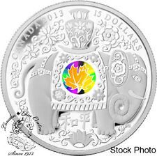 Canada 2013 $15 Maple of Peace Hologram Pure Silver Coin