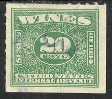U.S. Revenue Wine stamp scott re99 - 20 cent issue - series of 1934