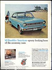 1965 RAMBLER AMERICAN advertisement, blue two-door hardtop 440-H